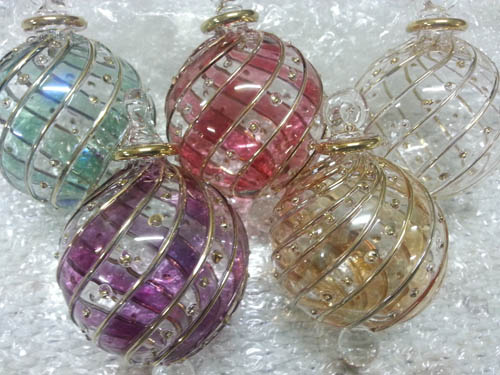 Hand blown glass lot of 5 pcs