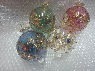 Hand blown glass lot of 4 pcs