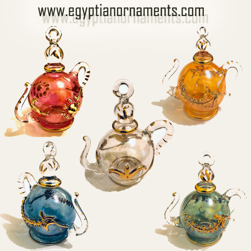 10 Hand Blown Glass Teapots
