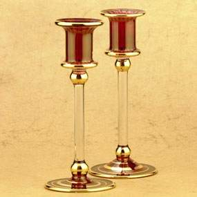 Glass Double Candle Holders