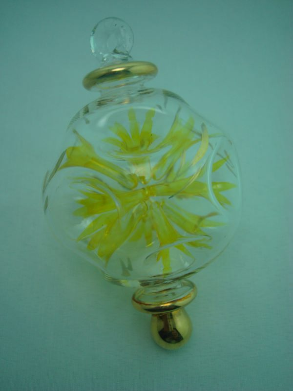 Blown glass firecracker christmas ornament ball