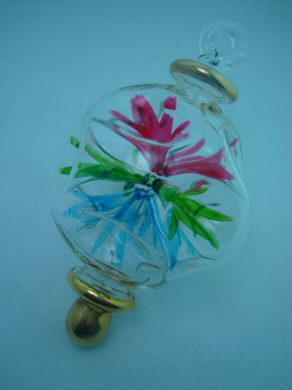 Firecrackers blown glass christmas ornament ball