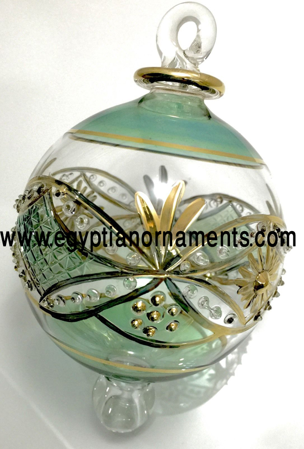 Egyptian Hand Blown Glass Ornament