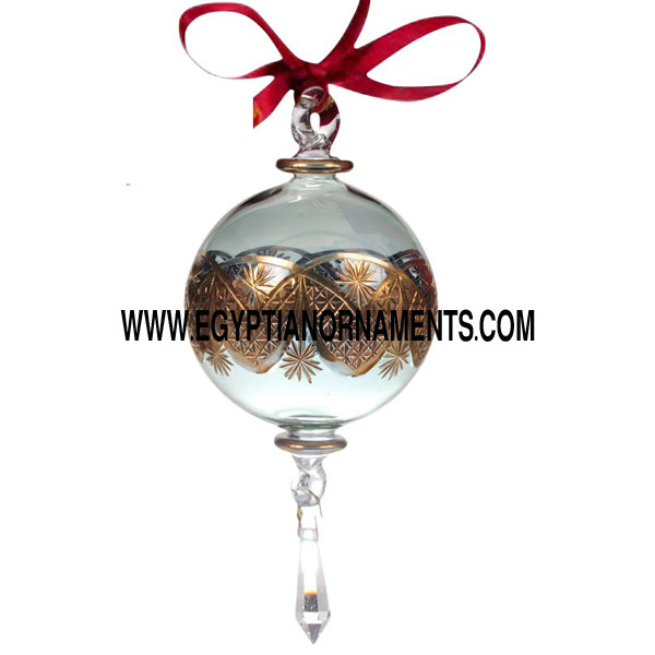 Fine etching ball with crystal drop