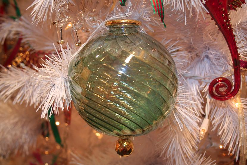 Hand blown swirl glass ornaments