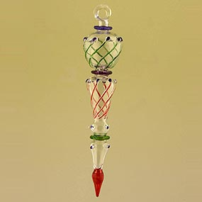 blown glass icicle christmas ornament