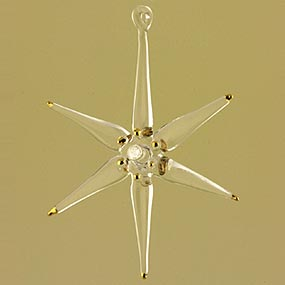 Glass sea star Christmas Ornament
