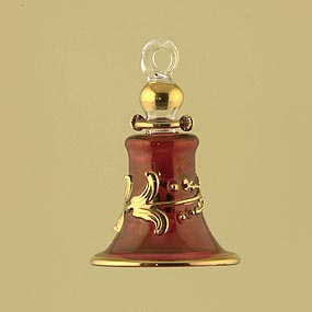 Glass Bell Christmas Ornament
