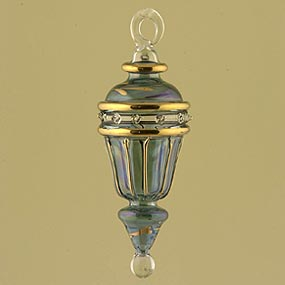 Glass Small Lantern Christmas Ornament
