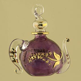 Teapot Glass Christmas Ornament