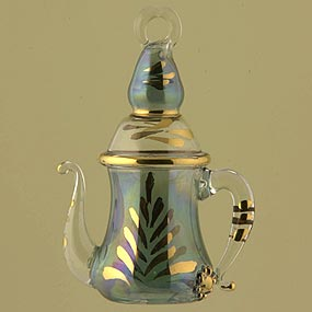 Blown glass Coffee Pot Christmas ornament