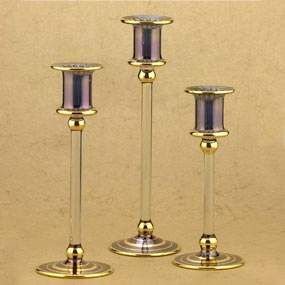 Glass Triple Candle Holders