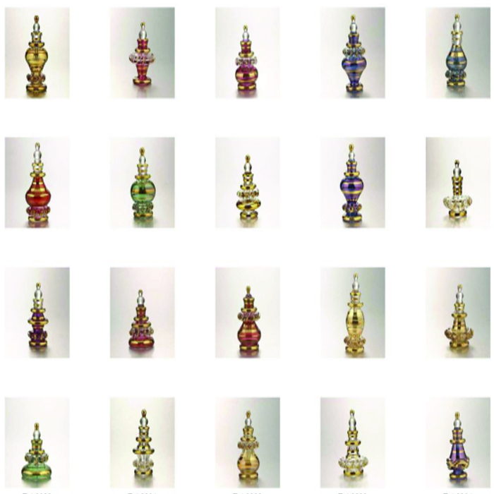 LOT OF 25 HAND BLOWN GLASS TINY BOTTLES