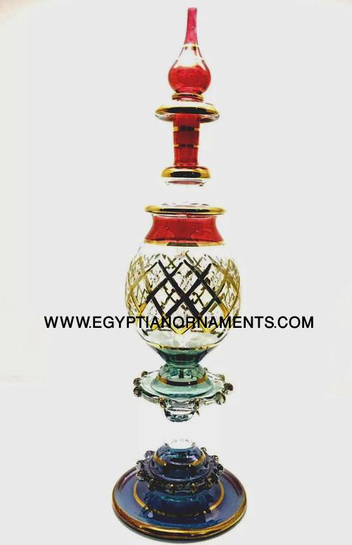 Egyptian blown glass genie bottle