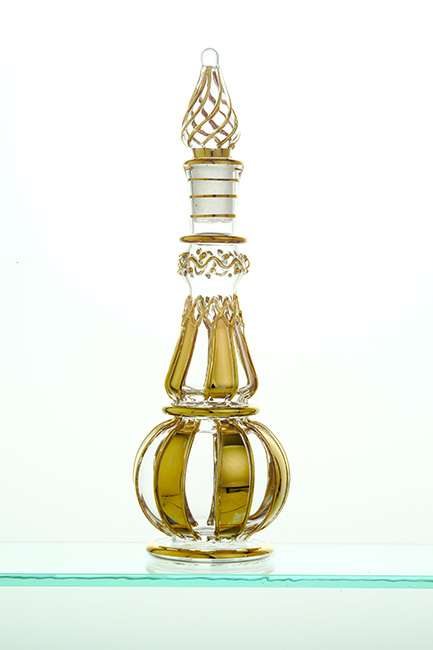 Genie Bottle with gold strip