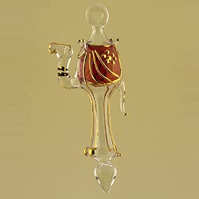 Figurine glass Christmas ornamen