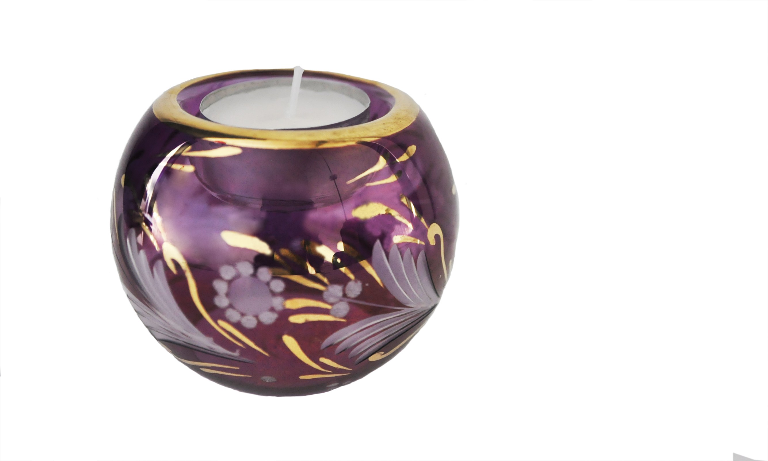 Blown glass tealight