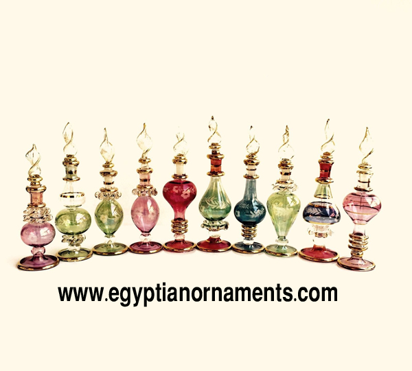 Hand Blown glass perfume bottles lot of 50