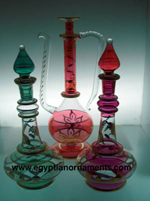 Glass perfume bottles lots