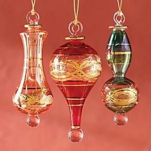 Egyptian glass ornaments  glass christmas ornaments  blown glass