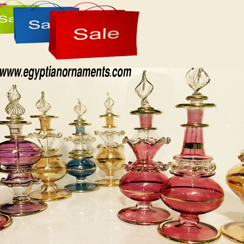 Wholesale Hand Blown Glass Perfume Bottles Lot of 10